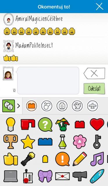 Konverzace s emoji klávesnicí