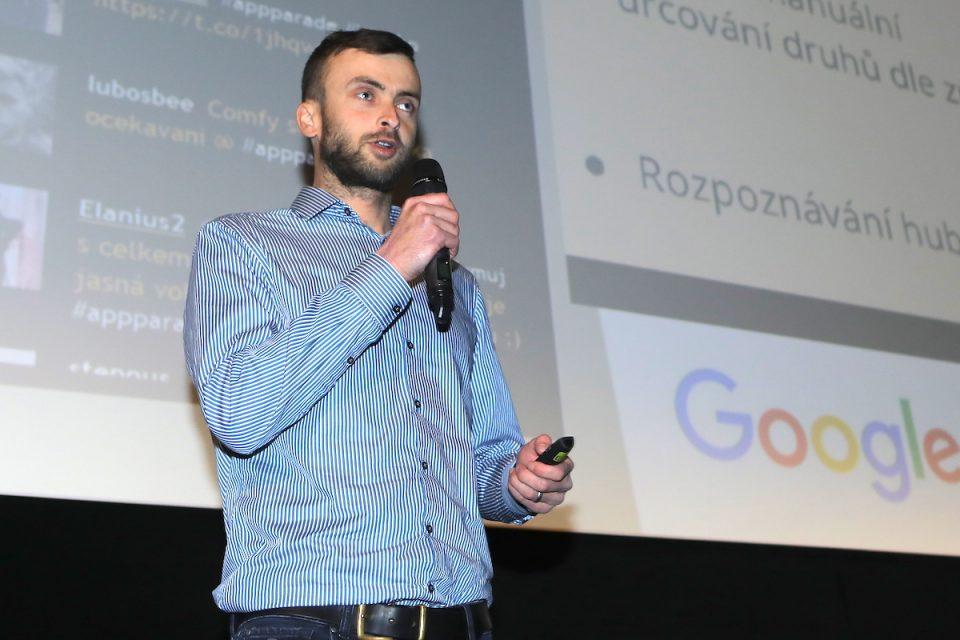 Vojtěch Kučera ze studia Vocom na prosincové AppParade. Foto: Tomáš Pánek