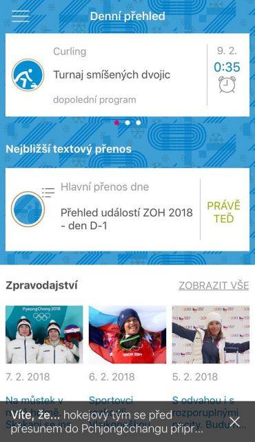 ZOH 2018 nabízí kompletní denní přehled i zpravodajství