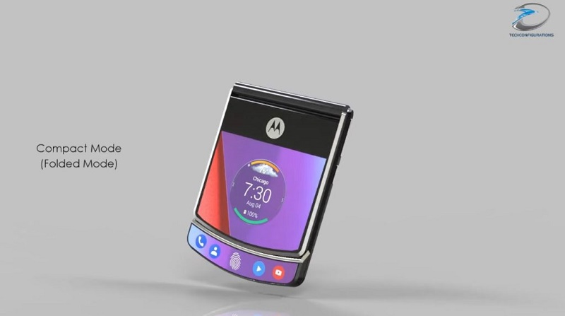Motorola Razr V4 ve složené podobě