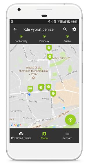 S aplikací My Air mohou uživatelé provádět výběry na pobočkách Sazky