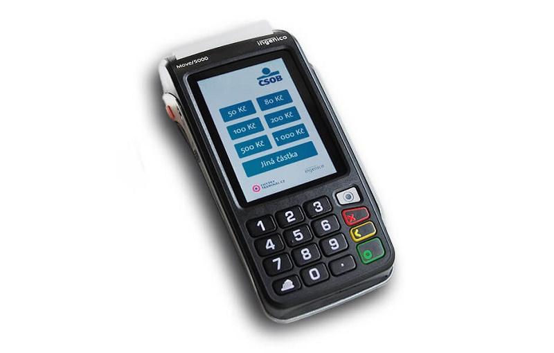 Aplikace od ČSOB nabízí předvolené částky i stránku pro kontakty