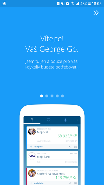 George je první aplikace, která monitoruje uživatelovo chování a zasílá mu personalizované informace