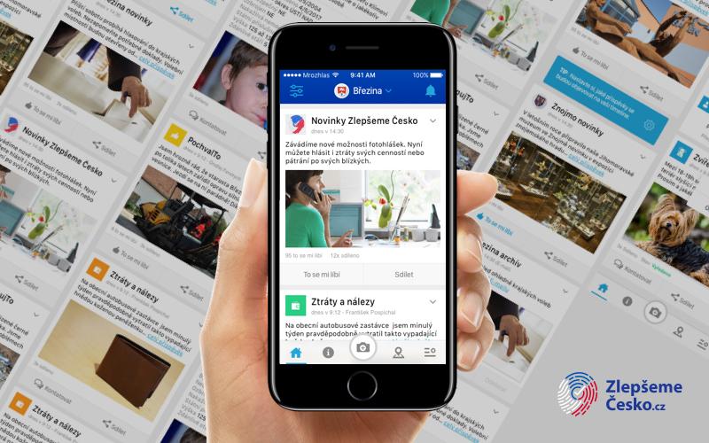 Aplikace přehledně zobrazí aktuální novinky z okolí