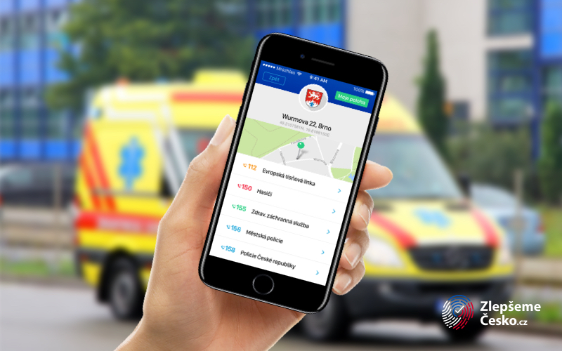 Zlepšeme Česko je propojena i s rychlými kontakty na záchranné služby či policii