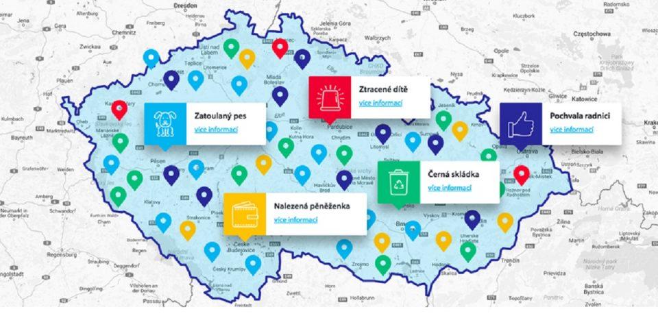 Prostřednictvím aplikace Zlepšeme Česko lze sdílet různé podněty
