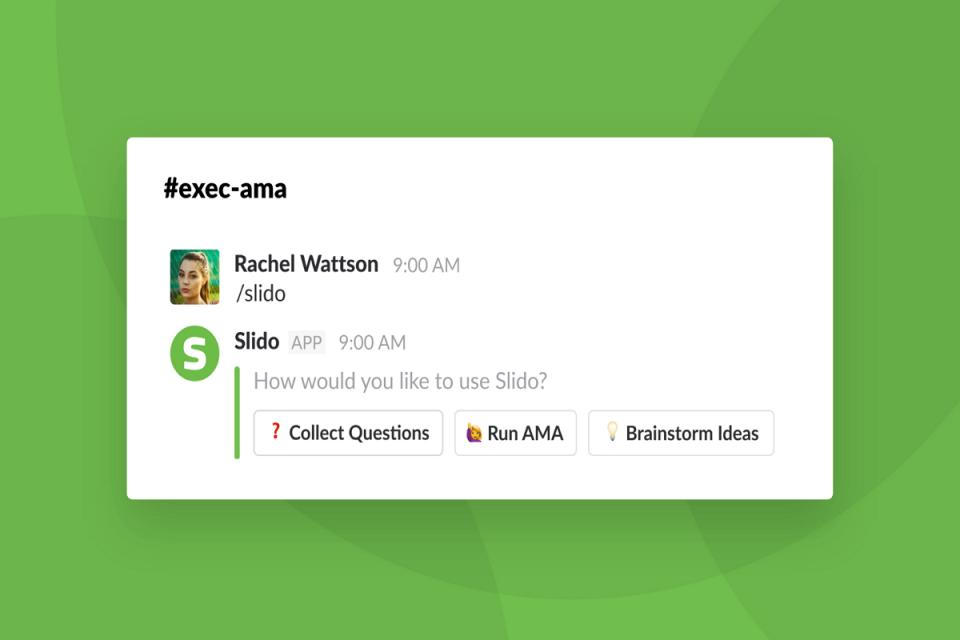 Rozšíření pro Slack spouští kolektivní Q&A nebo sbírá nápady