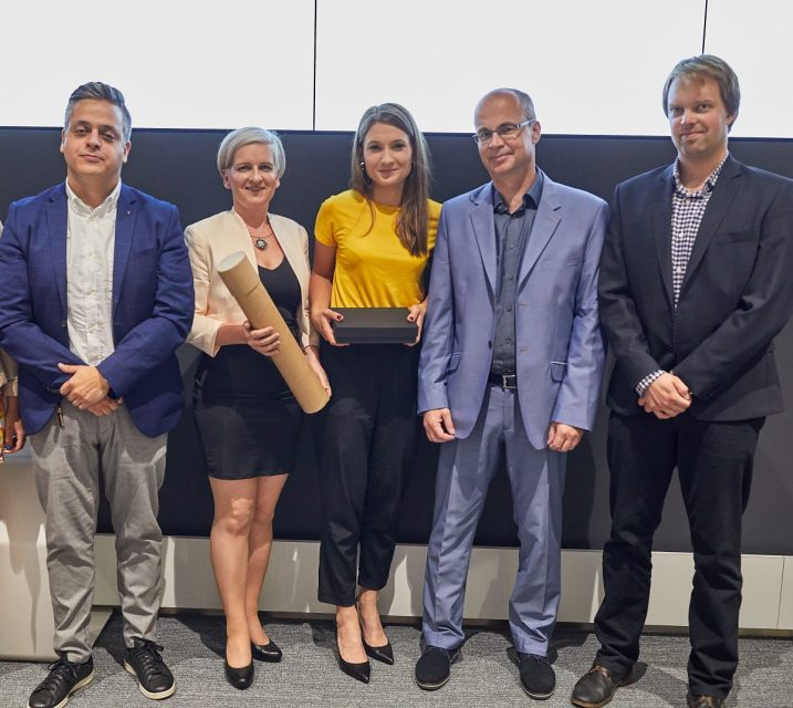 Tým Innogy a agentur Wunderman a Internet Projekt při předání cen za druhé místo