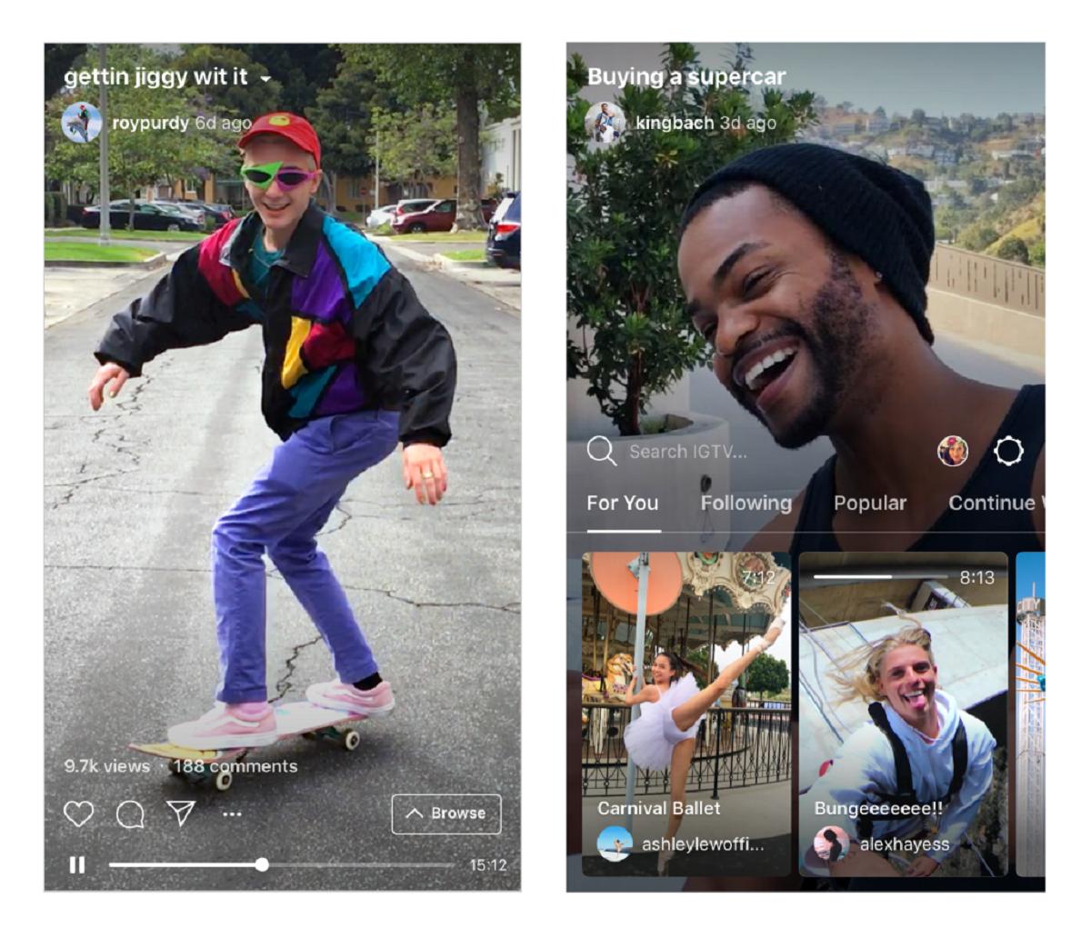 Uživatelé mohou vyhledávat videa ve čtyřech různých kategoriích