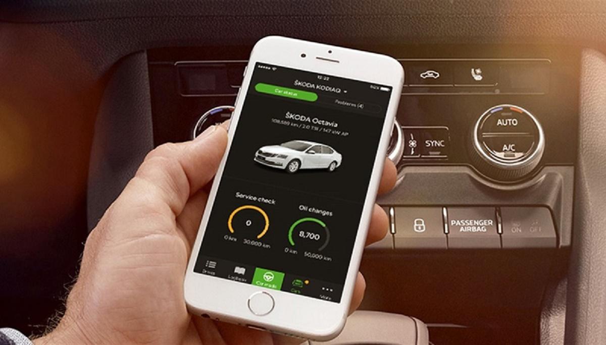 Škoda Oneapp monitoruje funkce motoru a další parametry chodu vozidla